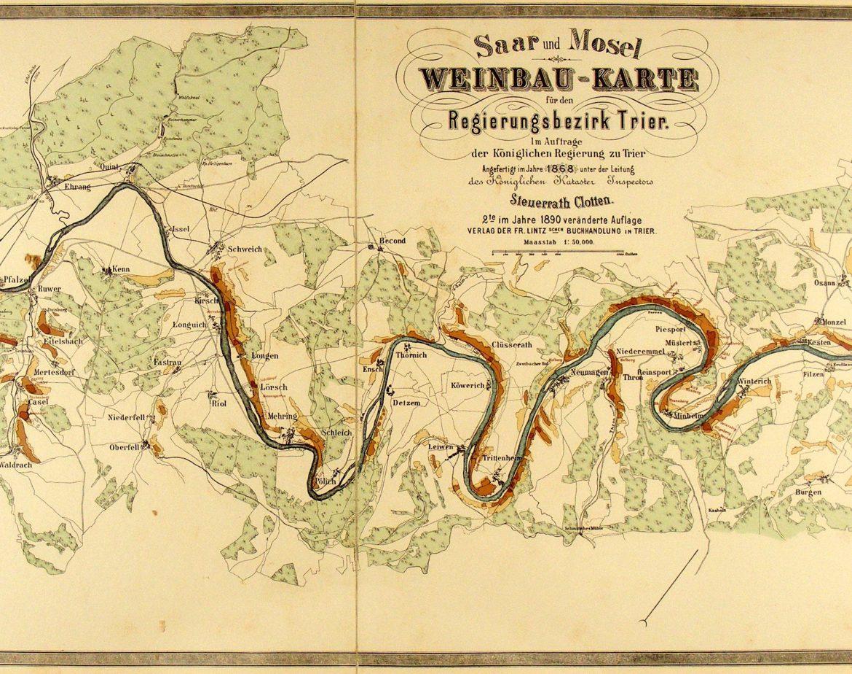 Weinbaukarte Mosel 1890