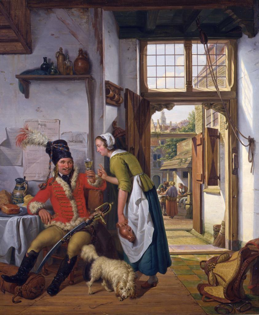 Abraham van Strij - huzaar met dienstmeid